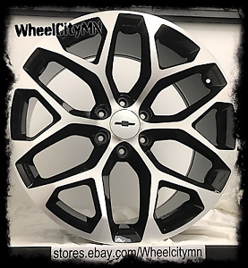 20 Gloss Black 2016 Chevy Suburban 1500 Ltz Oe Replica Wheels Snowflake 6x5 5