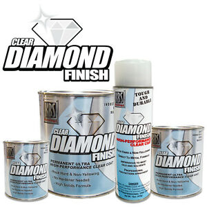 Diamond Finish Clearcoat Two Quart Special Direct To Polished Alum Chrome