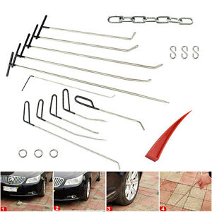 Paintless Dent Repair Pdr Tools Push Rods Pull Kits Hail Removal Auto Body Set