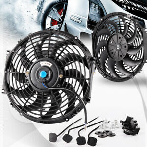 Universal 12v Slim Pull Push Racing Electric Radiator Engine 12 Cooling Fan