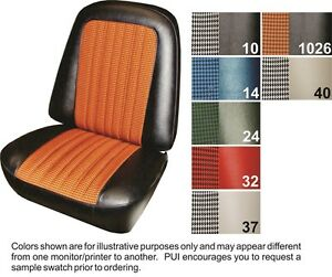 1971 72 Cheyenne Blazer Deluxe Houndstooth Front Seat Covers Pui
