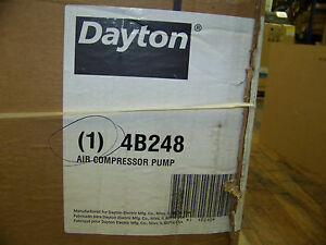 Speedaire 2 stage Splash Lubricated Air Compressor Pump 4 Qt Oil Capacity 4b248