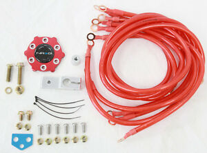 Nrg Red Ground Wire System Circle Earth Grounding Kit