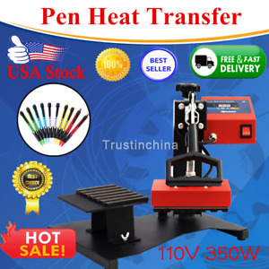 6pcs Digital Pen Heat Press Machine For Ball point Transfer Printing 110v Us Hot