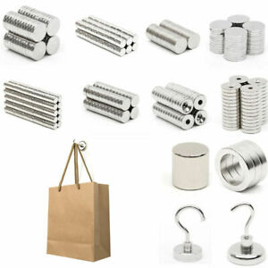 1 100pcs N52 10x3x3mm Strong Cylinder Magnet Rare Earth Neodymium Fridge Magnet