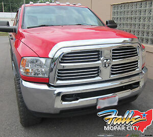 2009 2019 Dodge Ram 1500 New Chrome Front Air Deflector Bug Shield Mopar Oem