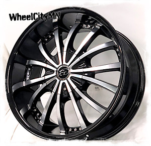 20 X9 Gloss Black Vct V63 Mancini Wheels Rims Chevrolet Silverado 5x5 5x127 15