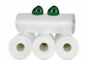 32 Rolls Coreless Pre stretch Wrap 18 X 2000 32 Ga Green Swivel Handle