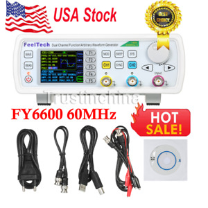 Fy6600 60mhz Dual Channel Dds Function Signal Generator Waveform 20vpp Us Fast