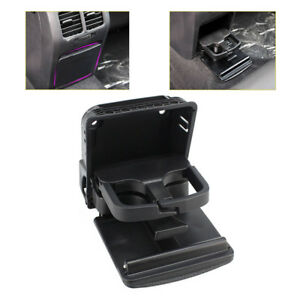 Black Central Console Rear Armrest Cup Holder For Vw Jetta Mk5 Golf Mk6 Gti Eos