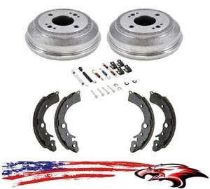 Brake Drums Brake Shoes Hardware Kit Honda Civic W Manual Transmission 89 95