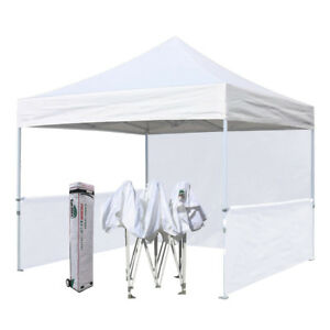 White Pop Up Canopy Commercial Outdoor Market Craft Trade Show Booth Tent