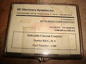 Three 2 Mitsubishi Wire Edm Indexable Upper Lower Power Feed Contacts