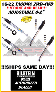 Bilstein Adjustable Front Rear 5100 Shocks For 16 19 Toyota Tacoma 2wd 4wd 4x4