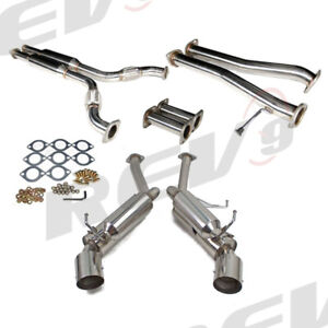 Rev9 G35 350z 2 5 Dual Stainless Steel Catback Exhaust System Vq35 4 5 Tip