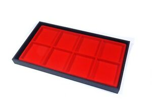 4 Black Tray 8 Space Red Tray Jewelry Tray Hobby Parts Tray Storage Drawer Trays