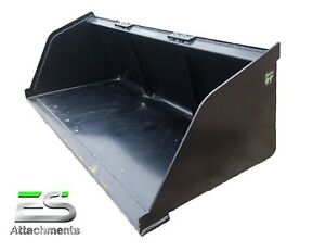 New Powder Coated 84 Snow mulch dirt gravel Bucket For Skid Steer Local Pick Up