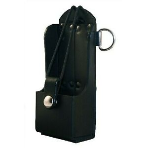 Brand New Boston Leather Radio Holder Plain Black
