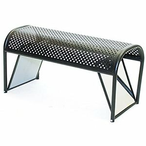 Kc Store Fixtures 52308 Shoe Bench With Mirrored Ends 18 Height 16 Width 36