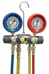 Yellow Jacket 49977 Titan 4 valve Test And Charging Manifold Degrees F Psi Scal