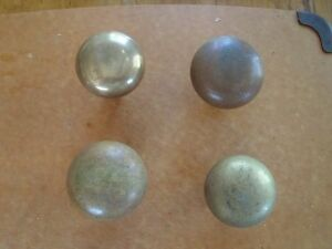 Lot Of 4 Vintage Solid Brass Bronze Door Knobs