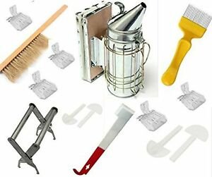 Beekeeping Tools Kit 10 Pcs bee Hive Smoker Beekeeping Accessory bee Keepin