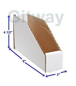 25 2 X 9 X 4 1 2 Corrugated Cardboard Open Top Storage Parts Bin Bins Boxes