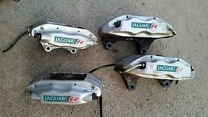2004 Jaguar Xjr Brembo R Edition Brake Calipers Set Of 4 Front Rear Used Silver