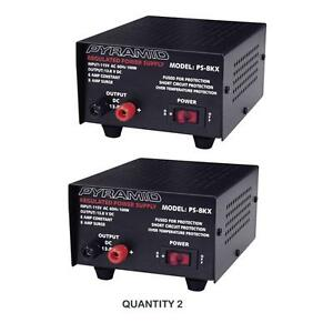 Pyramid Ps8kx Ac To Dc 8amp 12v Fully Regulated Low Ripple Power Supply Pair