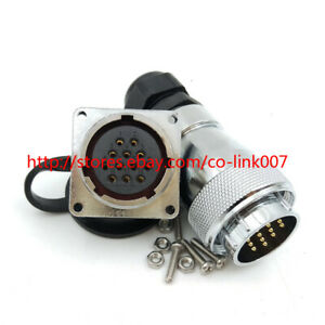 Ws28 12pin Waterproof Connector High Voltage Aviation Bulkhead Connector Led