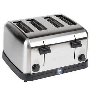 New Waring Commercial Pop up Toaster Bagel Bread Restaurant Equipment 4 Slot
