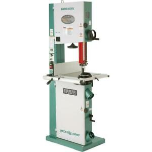 G0640x Grizzly 17 Metal wood Bandsaw W inverter Motor