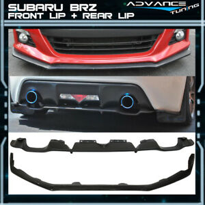 Fit For 13 16 Subaru Brz Sti Style Front Pu Bumper Lip Brz Oe Style Rear Lip