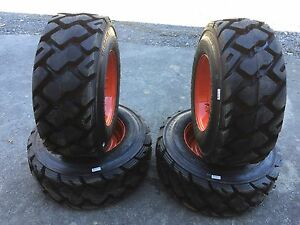 4 12 16 5 Ultra Guard Mx Skid Steer Tires wheels rims For Bobcat 14 Ply usa