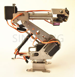 Sna900 6dof Robotic Arm Stainless Steel 6 Axis Clamp Rotating Mechanical Arduino