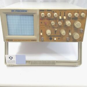 Bk Oscilloscope 100 Mhz Dual trace Oscilloscope Tested And Works