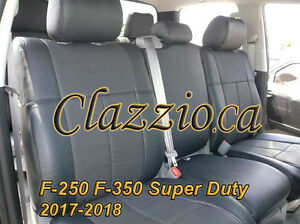 2017 2018 Ford F250 F350 Super Duty Clazzio Leather Seat Cover 1st 2nd Rows