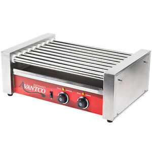 New Avantco Commercial Electric Hot Dog Roller Grill Cooker Machine Concession