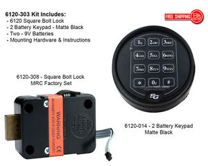 Sargent And Greenleaf S g 6120 303 Electronic Keypad Lock Kit Matte Black