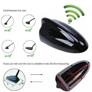 Universal Functional Am Fm Shark Fin Antenna Upper Paint Black New 6 89