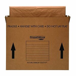 Bankers Box Smoothmove Moving Boxes For Pictures And Mirrors Medium 37 X 4 X 4