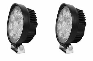 2pcs 4 5inch 27w Round Led Work Light Bar Spot Offroad Driving Fog Lamp 12v