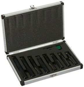 Brand New Hhip 1001 0708 8 Piece 3 4 Inch Round Shank Indexable Boring Bar Set