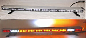 50 Led Amber Light Bar Tow Truck Plow Police W Cargo Brake tail turn Signal