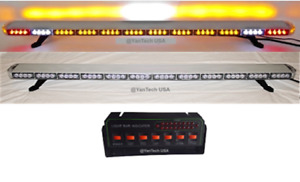 60 Led Amber Light Bar Tow Truck Plow Police W Cargo Brake tail turn Signal