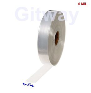 2 X 725 Clear Poly Tubing Tube Plastic Bag Polybags Custom Bags On A Roll 6ml