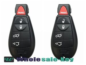 2 New Keyless Entry Remote Car Key Fob Iyz c01c For 2008 13 Jeep Grand Cherokee
