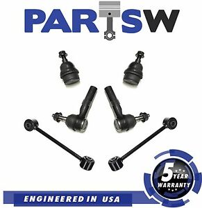 6 Pc Suspension Kit For Jeep Commander Grand Cherokee Tie Rod Ends 5 Yr Warranty