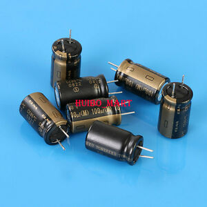 Elna Japan 50v 100uf Audio Grade Electrolytic Capacitors 10 Pcs 20pcs 50pcs