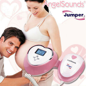 Angelsounds Baby Heart Monitor Fetal Doppler 3mhz Probe Backlight Lcd Fda Ce